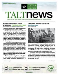 TALT 2017 Spring Newsletter