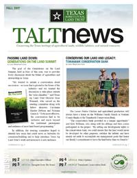 TALT Fall 2017 Newsletter Thumbnail