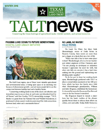 TALT Winter Newsletter 2016