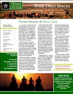 2011 TALT Spring Newsletter