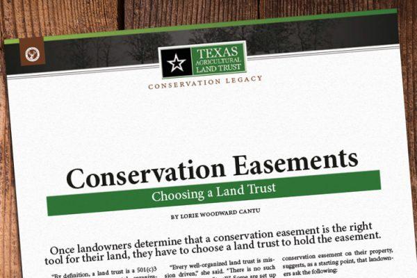 Choosing A Land Trust