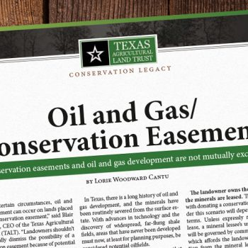 Oil and Gas Conservation Easements