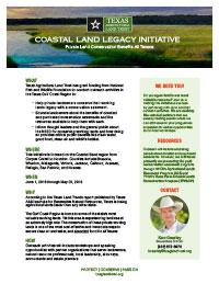 CoastalLandLegacyInitiativeOnePager