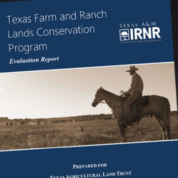 Texas Farm and Ranch Lands Conservation Program Report